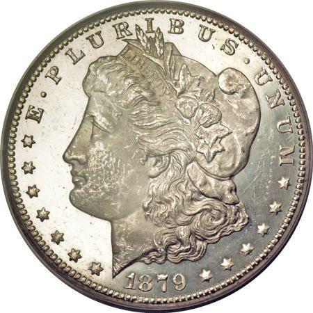 2183: 1879-CC $1 MS64 Deep Mirror Prooflike PCGS.