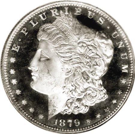 2187: 1879-S $1 Reverse of 1878 MS65 Deep Mirror