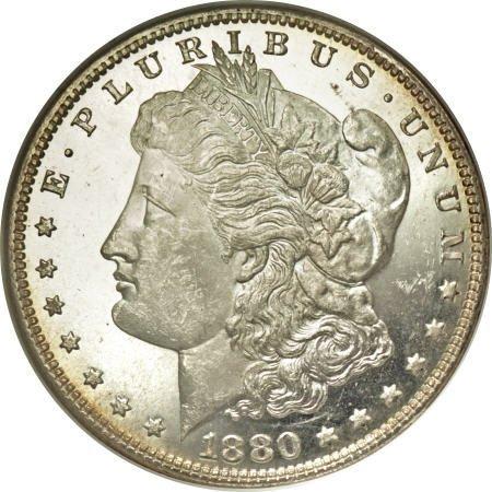 2191: 1880-O $1 MS64 Deep Mirror Prooflike NGC.