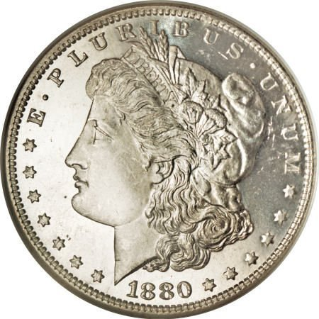 2192: 1880/79-O $1 MS64 Deep Mirror Prooflike NGC.