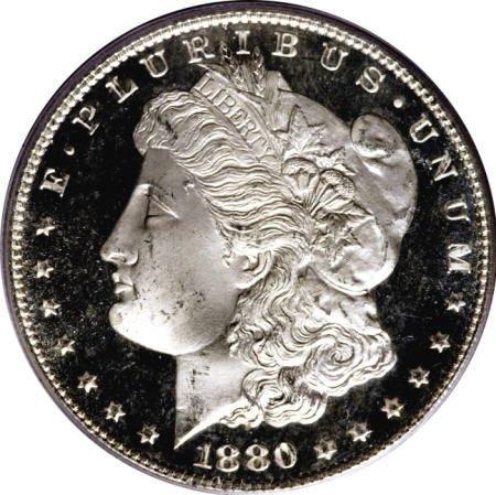 2194: 1880/9-S $1 MS67 Deep Mirror Prooflike PCGS.