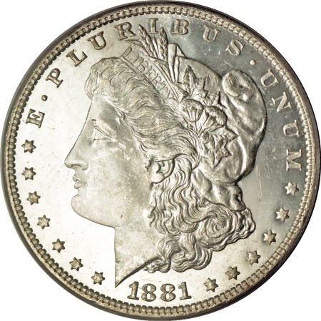 2195: 1881 $1 MS65 Deep Mirror Prooflike PCGS.