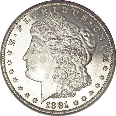 2196: 1881-CC $1 MS67 Deep Mirror Prooflike PCGS.