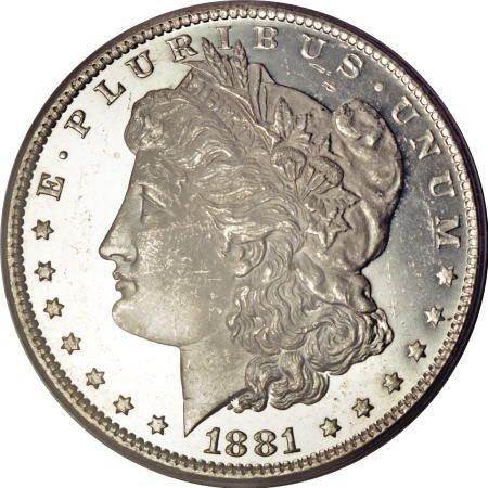 2197: 1881-O $1 MS65 Deep Mirror Prooflike PCGS.