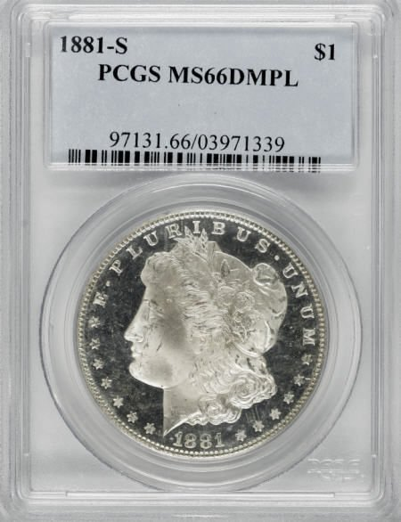 2198: 1881-S $1 MS66 Deep Mirror Prooflike PCGS.