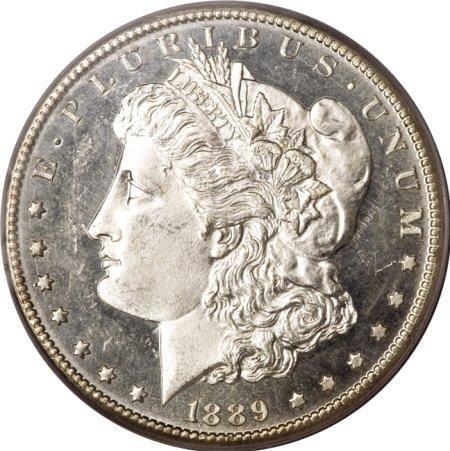 2226: 1889-CC $1 MS64 Deep Mirror Prooflike PCGS.