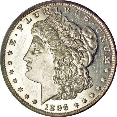 2242: 1896-O $1 MS61 Deep Mirror Prooflike PCGS.