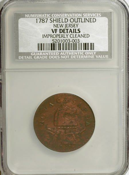7016: 1787 COPPER New Jersey Copper, Outlined Shield--I