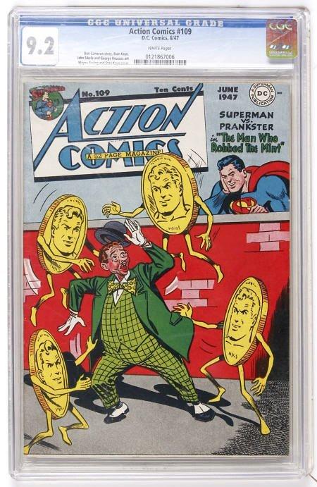 41001: Action Comics #109 (DC, 1947) CGC NM- 9.2