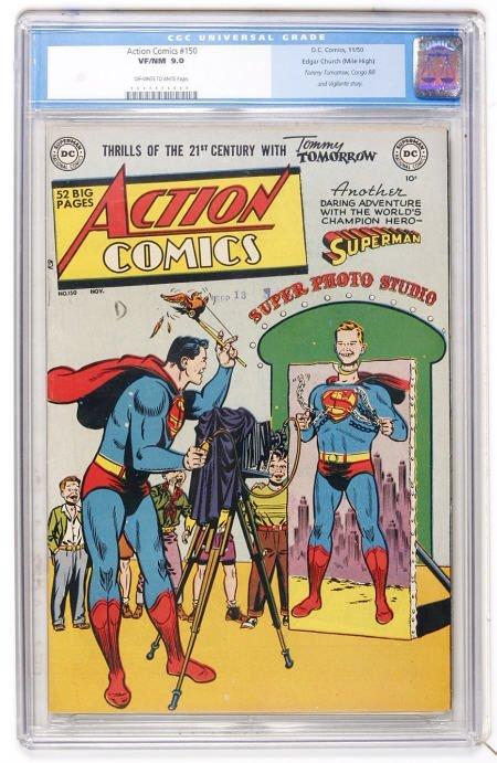 41002: Action Comics #150 Mile High (1950) CGC 9.0