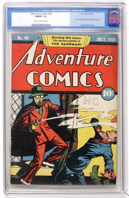 41003: Adventure Comics #40 (DC, 1939) CGC FN/VF 7.0
