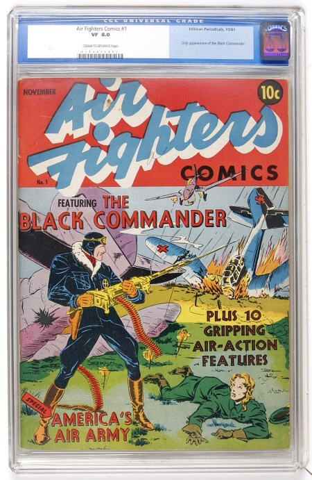 41004: Air Fighters Comics #1 (1941) CGC VF 8.0 c/ow