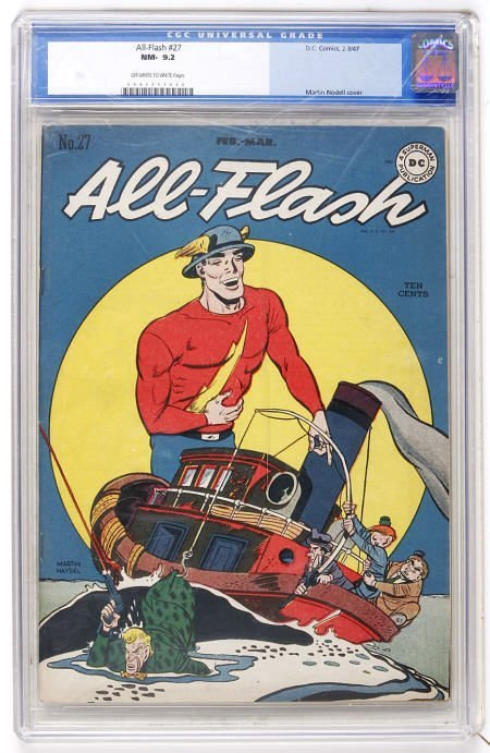 41005: All-Flash #27 (DC, 1947) CGC NM- 9.2 ow/w pages