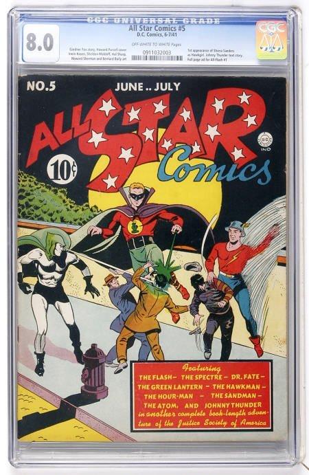 41006: All Star Comics #5 (DC, 1941) CGC VF 8.0