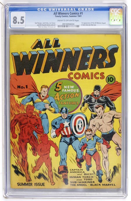 41007: All Winners Comics #1 (Timely, 1941) CGC VF+ 8.5
