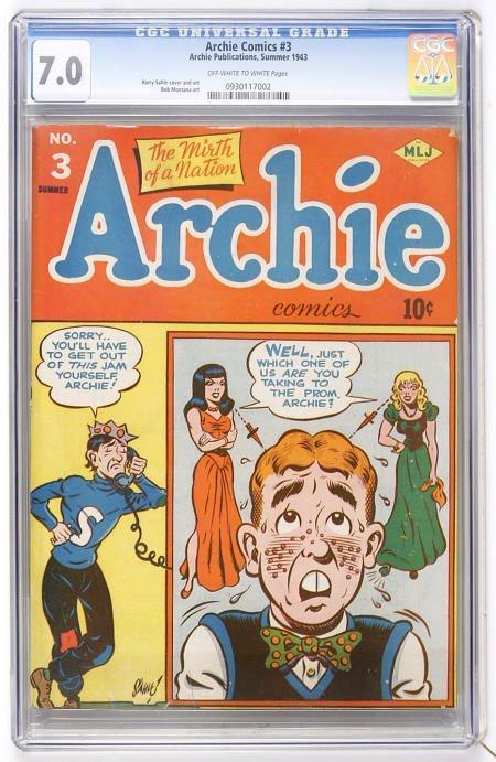 41008: Archie Comics #3 (Archie, 1943) CGC FN/VF 7.0