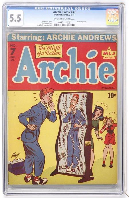 41009: Archie Comics #7 (Archie, 1944) CGC FN- 5.5