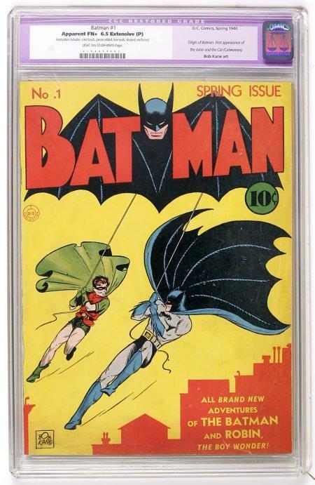 41010: Batman #1 (DC, 1940) CGC Apparent FN+ 6.5
