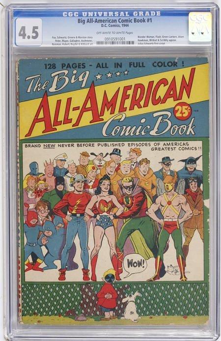 41014: Big All-American Comic Book #1 CGC VG+ 4.5