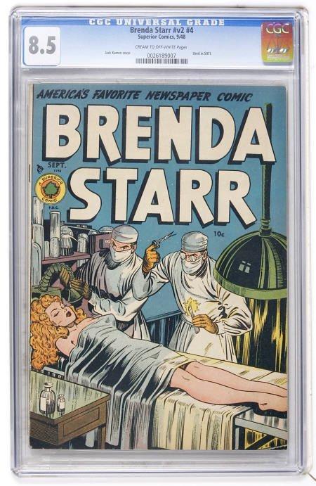 41015: Brenda Starr V2#4 (Superior, 1948) CGC VF+ 8.5