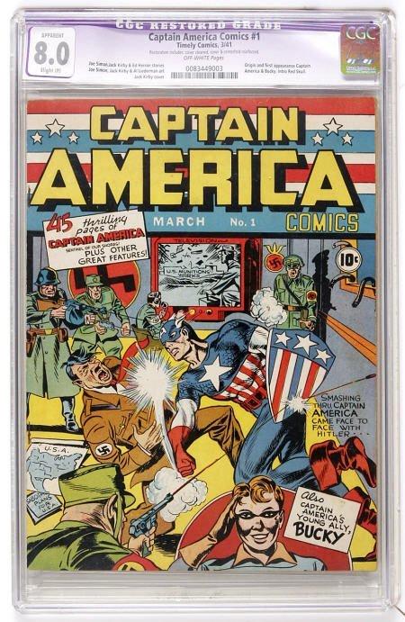 41016: Captain America Comics #1  CGC Apparent VF 8.0