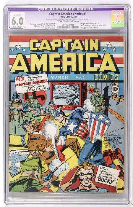 41017: Captain America Comics #1 (1941) CGC App 6.0