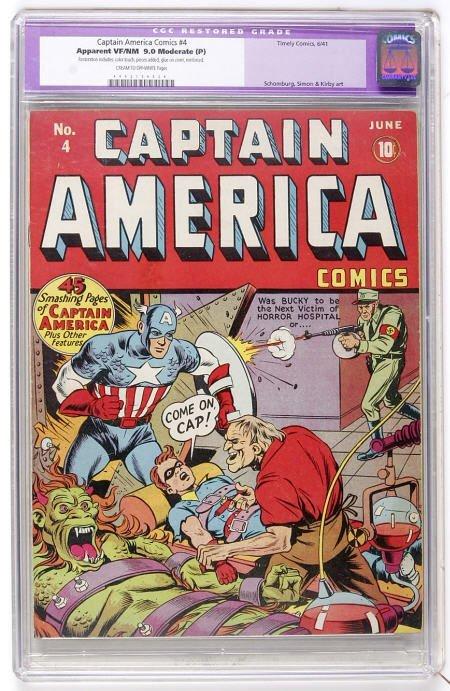 41018: Captain America Comics #4 CGC Apparent VF/NM 9.0