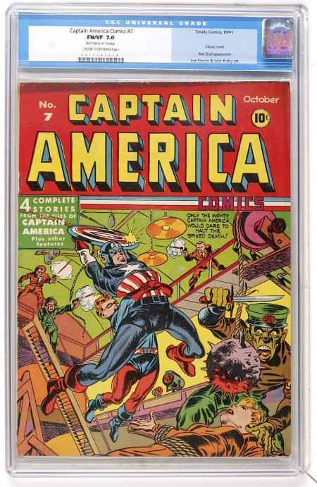 41019: Captain America Comics #7 (Timely) CGC FN/VF
