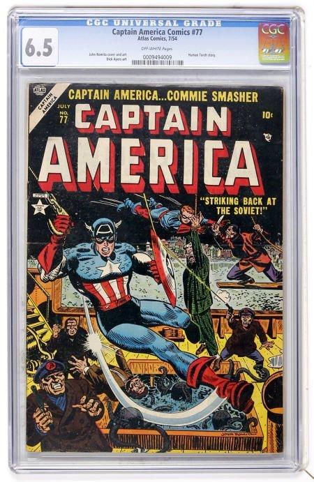 41021: Captain America Comics #77 (Atlas) CGC 6.5