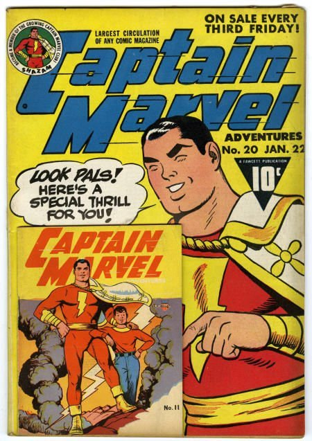 41022: Captain Marvel Adventures #20 w/Miniature Fine