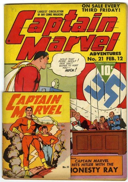 41023: Captain Marvel Adventures #21 w/Miniature VG/FN