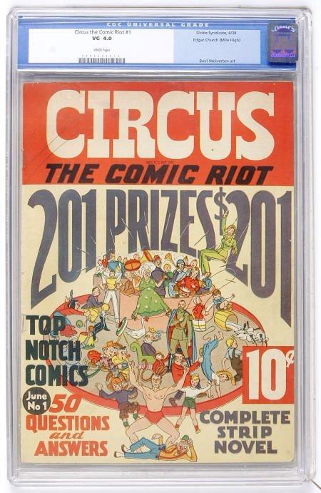 41024: Circus the Comic Riot #1 Mile High CGC VG 4.0