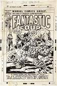 41358: John Buscema Fantastic Four #127 Cover Art