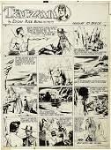 41277: Burne Hogarth - Tarzan Sunday Original Art