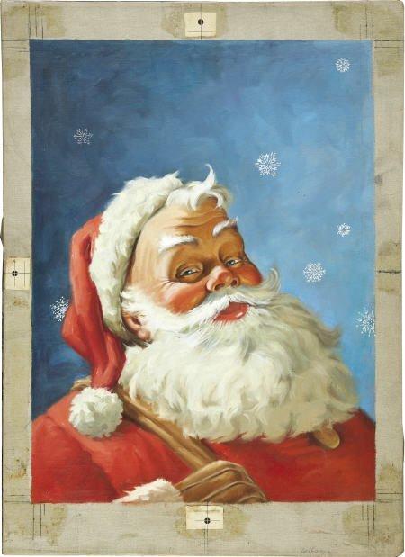 41308: Santa's Big Big Coloring Book Painting Original