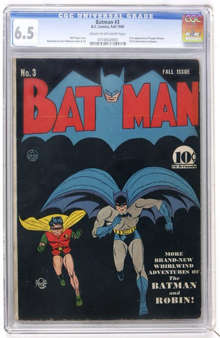 41011: Batman #3 (DC, 1940) CGC FN+ 6.5 c/ow