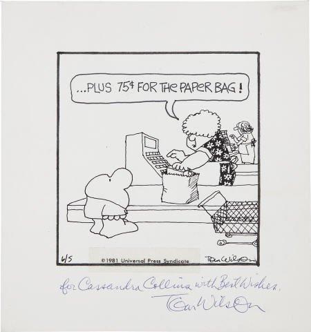 42435: Tom Wilson - Ziggy Daily Comic Strip Signed