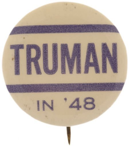 48137: Harry S. Truman: One of Rarest Word Pins