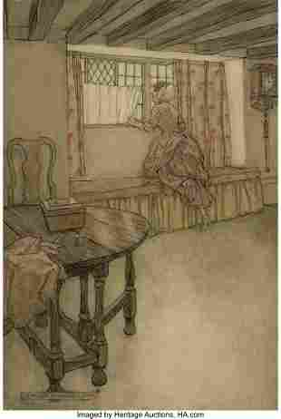71041: Arthur Rackham (British, 1867-1939) Strange Face