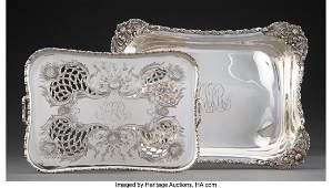 74053 A TwoPiece Tiffany amp Co Silver Chrysanthemum P
