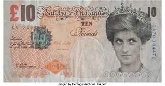 42095: Banksy X Banksy of England Di-Faced Tenner, 10 G
