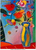Peter Max (American, b. 1937) Untitled (Vase wit