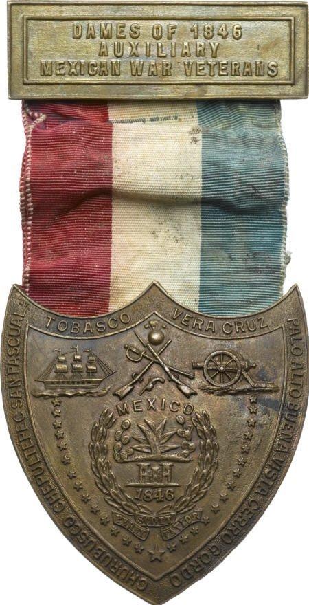 29128: Mexican War Veterans Auxiliary Badge, AU.