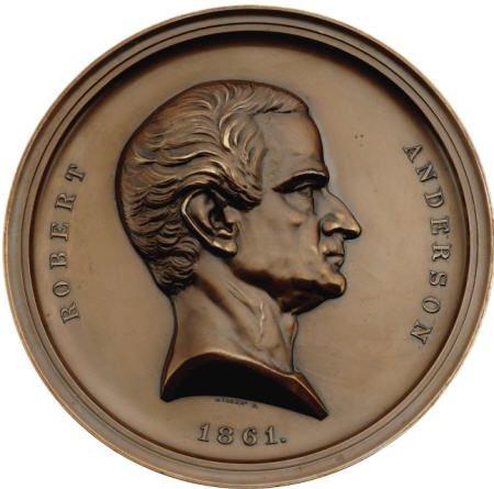 29131: 1861 Robert Anderson Medal. MS60 Uncertified.