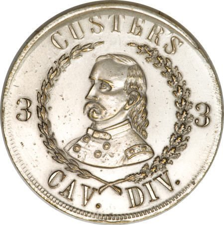 29132: 1864 Custer Third Cavalry Badge. Uncirculated
