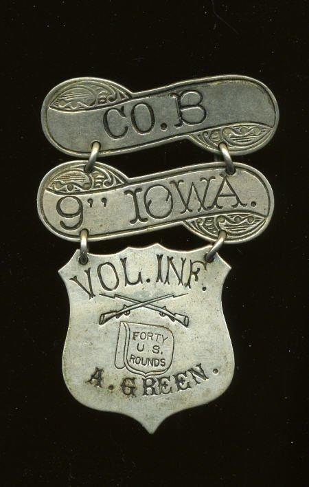 29134: Iowa 9th Volunteer Infantry Ladder Badge.