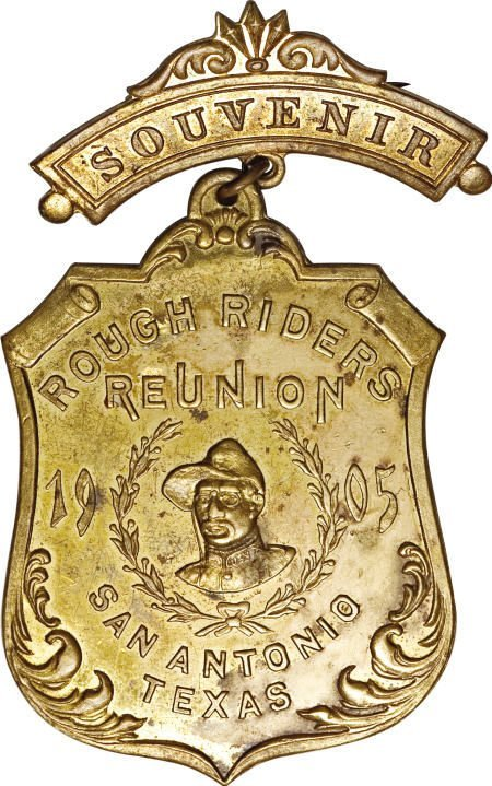 29137: 1905 Texas Roosevelt Rough Rider Union Pinback