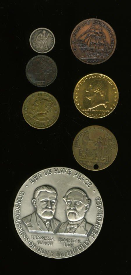 29142: 1961-1965 Civil War Cent. Com Medal & 6 misc