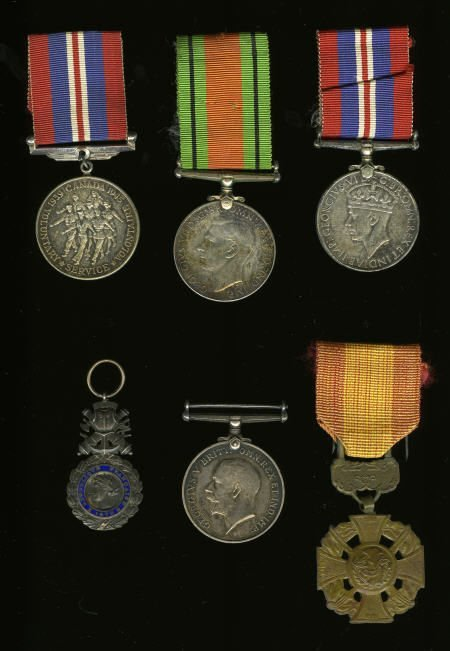 29144: Six 20th Century World Military Medals.