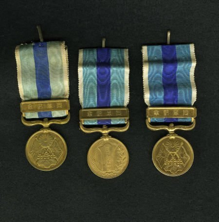 29146: Trio of 1904-05 Russo-Japanese War Medals.